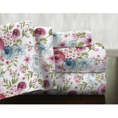 Sylvan 100% Cotton Flannel Sheet Set Size: Queen