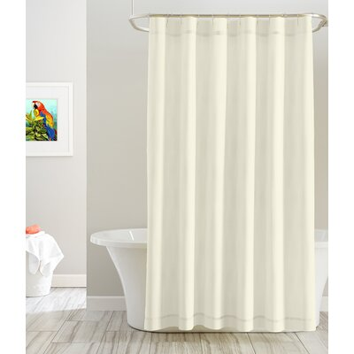 Cotton Shower Curtain Color: White