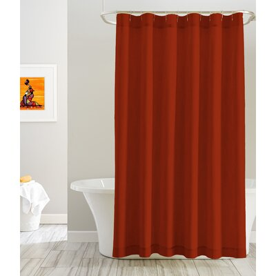 Cotton Shower Curtain Color: Orange