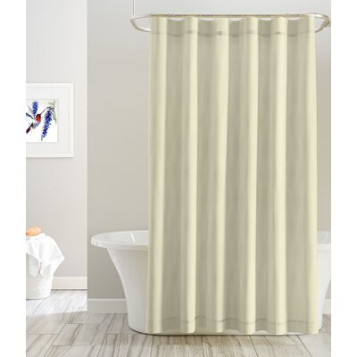 Cotton Shower Curtain Color: Tan