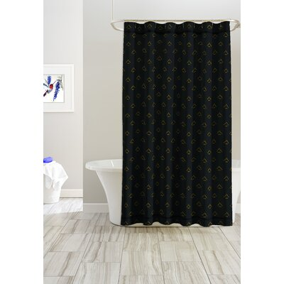 Triangle Cotton Shower Curtain
