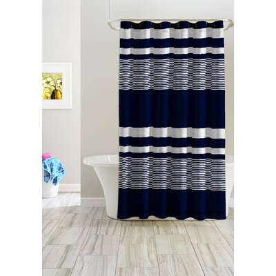 Mariners Stripes Cotton Shower Curtain