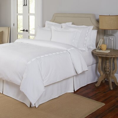 3 Piece Duvet Set Size: King/California King, Color: White