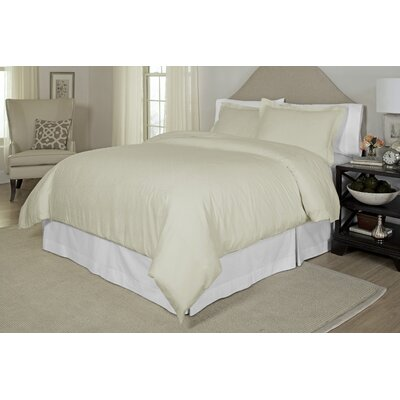Duvet Cover Set Size: King / Cal King, Color: Bone