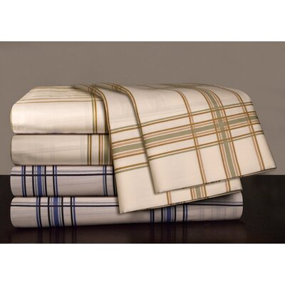 Pointehaven 300 Thread Count Printed Plaid Sateen Sheet Set - Size: Full, Color: Sage Plaid at Sears.com