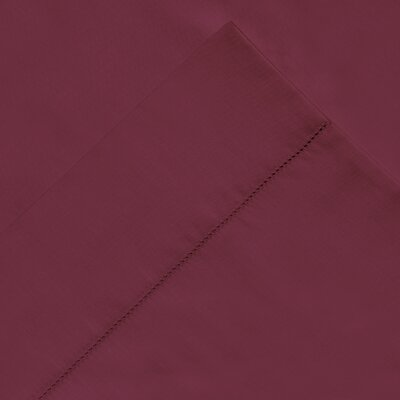 6 Piece 410 Thread Count 100% Long Staple Cotton Sheet Set Color: Merlot, Size: Queen