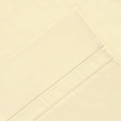 6 Piece 620 Thread Count 100% Long Staple Cotton Sheet Set Color: Bone, Size: King
