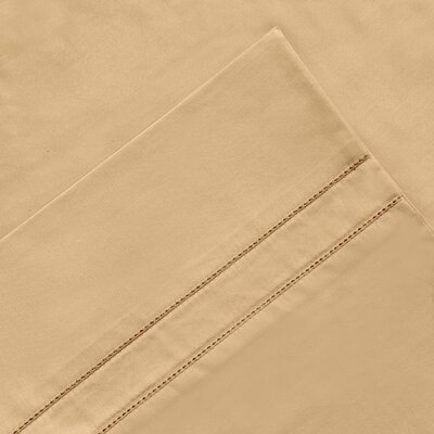 6 Piece 620 Thread Count 100% Long Staple Cotton Sheet Set Color: Iced Coffee, Size: Queen
