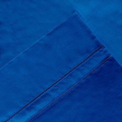 6 Piece 620 Thread Count 100% Long Staple Cotton Sheet Set Size: King, Color: Classic Blue