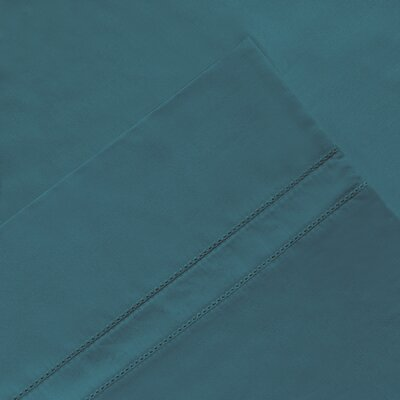 6 Piece 620 Thread Count 100% Long Staple Cotton Sheet Set Size: California King, Color: Teal