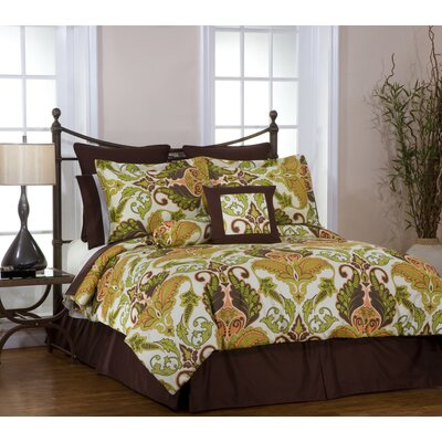 King Size  on Pointehaven Hannah Bed In A Bag Set In Gold   8pc Hannah