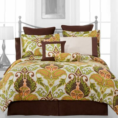 Hannah 12 Piece Reversible Comforter Set Size: Full