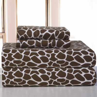 Pointehaven Heavy Weight Giraffe Flannel Sheet Set - Size: King at Sears.com