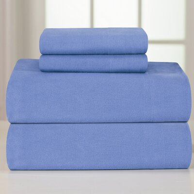 Pointehaven Flannel Sheet Set - Size: Full, Color: Merlot