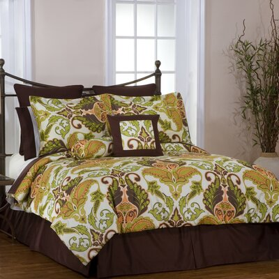 Hannah 8 Piece Reversible Bed-In-A-Bag Set Size: California King
