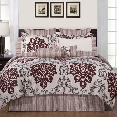 Luxury 12 Piece Reversible Comforter Set Size: California King