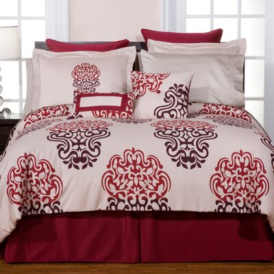 Luxury 8 Piece Reversible Comforter Set Size: California King