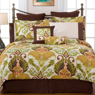 Hannah 3 Piece Reversible Duvet Cover Set Size: Full / Queen