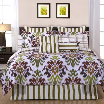 Luxury 12 Piece Reversible Comforter Set Size: Queen