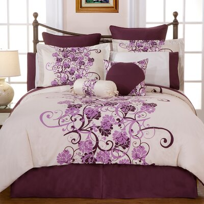 Grapevine 12 Piece Reversible Comforter Set Size: King