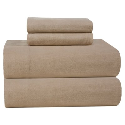 Pointehaven 4 Piece Full Flannel Sheet Set - Size: Queen, Color: Linen at Sears.com