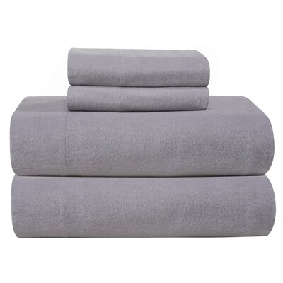 Pointehaven 4 Piece Full Flannel Sheet Set - Size: Queen, Color: Heather Grey at Sears.com