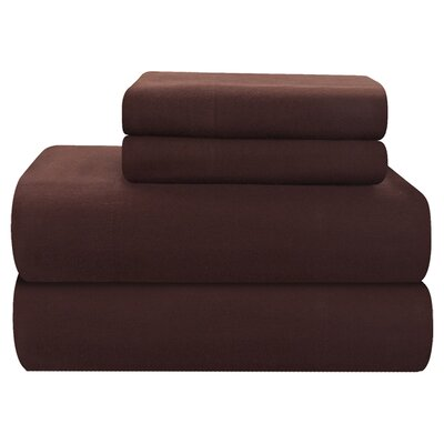 Pointehaven 4 Piece Full Flannel Sheet Set - Size: Queen, Color: Chocolate at Sears.com