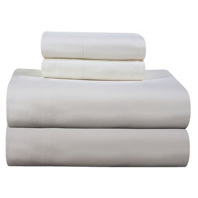 Pointehaven 4 Piece Full Flannel Sheet Set - Size: Queen, Color: Ivory at Sears.com