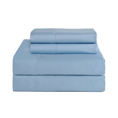 4 Piece 800 Thread Count Deep Pocket Luxury Sheet Set Size: King, Color: Cloud Blue