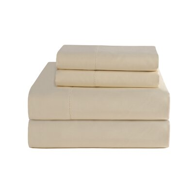 4 Piece 800 Thread Count Deep Pocket Luxury Sheet Set Size: King, Color: Bone
