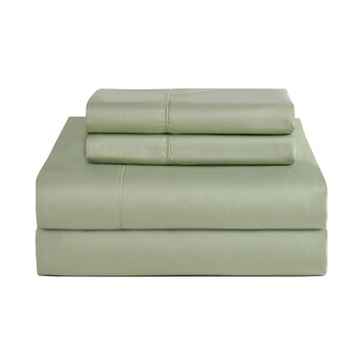 4 Piece 800 Thread Count Deep Pocket Luxury Sheet Set Size: King, Color: Sage