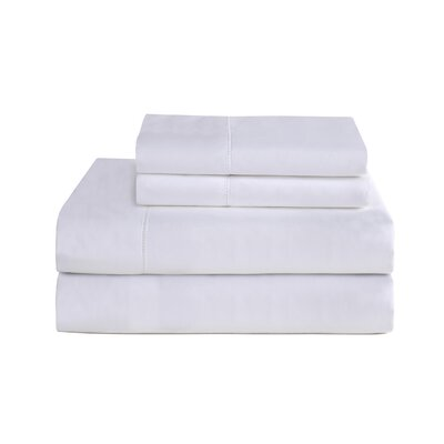 4 Piece 800 Thread Count Deep Pocket Luxury Sheet Set Size: California King, Color: White