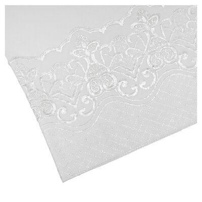 297 Bridal Lace 300 Thread Count 100% Cotton Sheet Set Size: Queen, Color: White