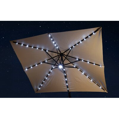 10 Square Illuminated Umbrella Fabric: Beige