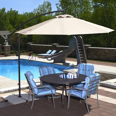 10 Cantilever Umbrella Fabric: Olefin - Champagne