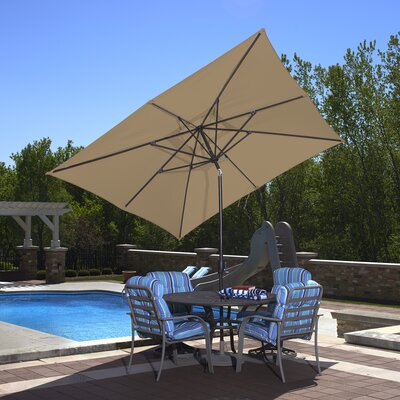 8 x 10  Rectangular Market Umbrella Color: Stone