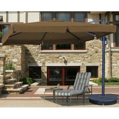 10 Santorini II Square Cantilever Umbrella Fabric: Stone