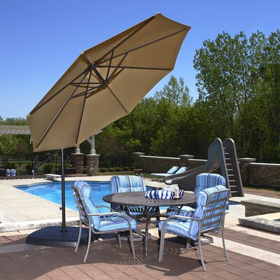 10 Cantilever Umbrella Fabric: Olefin - Stone