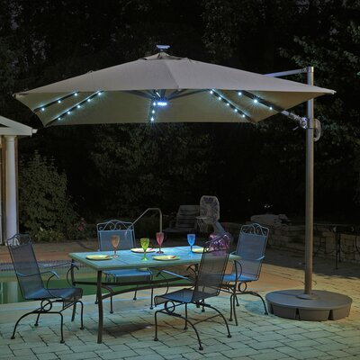 10 Square Illuminated Umbrella Fabric: Stone