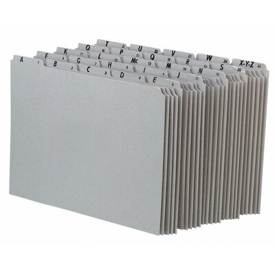 Top Tab A-Z File Guides Color: Grey