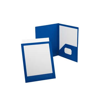 Oxford ViewFolio Poly Twin-Pocket Folders (Set of 2) Color: Red / Clear