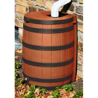 Good Ideas Rain Wizard 50 Gallon Rain Barrel with Darkened Ribs - Color: Terra Cotta at Sears.com