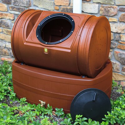 Good Ideas Compost Wizard Hybrid 7 Cu. Ft. Tumbler Composter and 47 Gallon Rain Barrel - Color: Terra Cotta at Sears.com