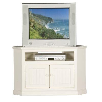 Cheap Eagle Industries Coastal 40″ Corner TV Cart Finish: Soft White (EAI1039_6221422)