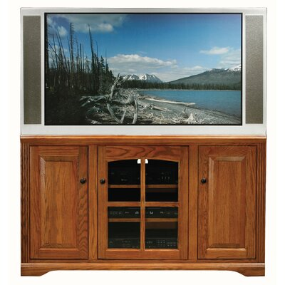 Cheap Eagle Industries Oak Ridge 55″ Thin Tall TV Stand Finish: Medium Oak (EAI1037_6221411)