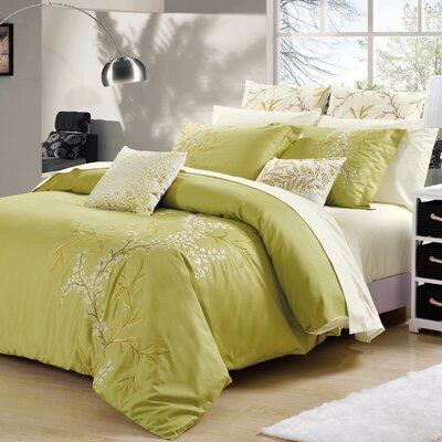 Abby 3 Piece Duvet Cover Set Size: King