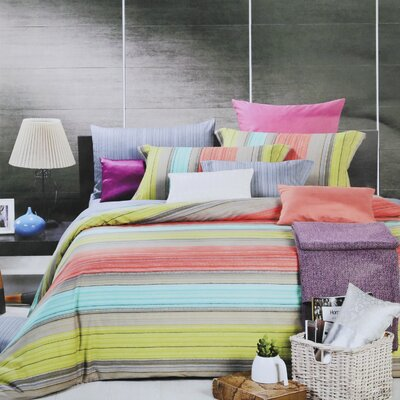 Fiesta 4 Piece Duvet Set Size: Twin