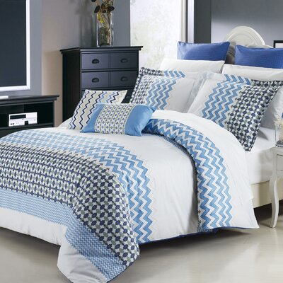 Mykonos 3 Piece Reversible Duvet Cover Set Size: Queen