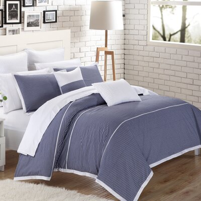 Campbell 3 Piece Duvet Cover Set Size: King