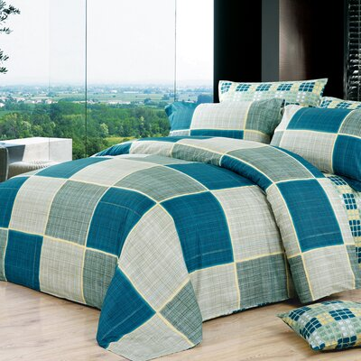 Marina 4 Piece Reversible Duvet Set Size: Twin